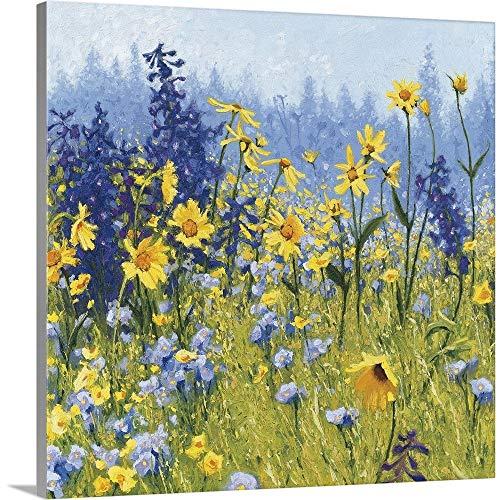 Joyful in July III Canvas Wall Art Print, 30 x30 x1.25