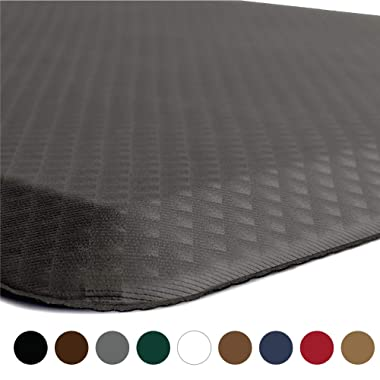 KANGAROO BRANDS Original 3/4  Anti-Fatigue Comfort Standing Mat Kitchen Rug, Phthalate Free, Non-Toxic, Waterproof, Ergonomically Engineered Floor Pad, Rugs for Office Stand Up Desk, 32x20 (Gray)
