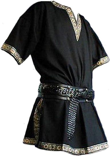 Disfraz de pirata vikinga para hombre - Negro - Medium ...