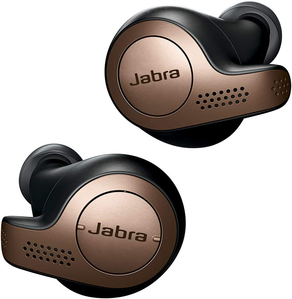 Jabra Elite 65t - Auriculares inalámbricos (Bluetooth 5.0, True Wireless) con Alexa integrada, Negro y Cobre