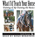 What I'd Teach Your Horse: Training & Re-Training the Basics: Horse Training How-To, Volume 8 Audiobook by Keith Hosman Narrated by Mike McKenzie