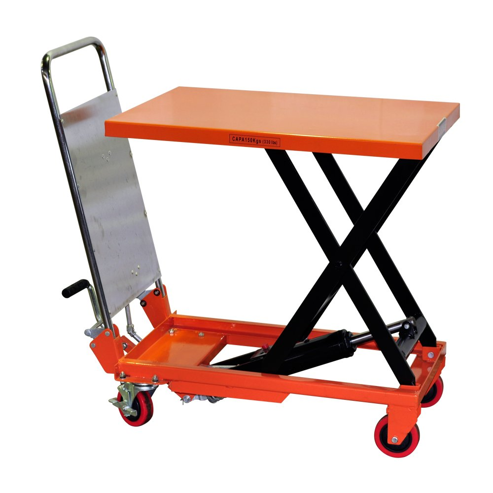 Bolton Tools New Hydraulic Foot Operated Scissor Lift Table Cart Hand Truck - 330 LB of Capacity - 28.8'' Max Height - Model TF15A