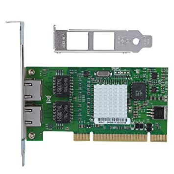 Fishlor Tarjeta de Red PCI, para Intel 8492MT 82546EB ...