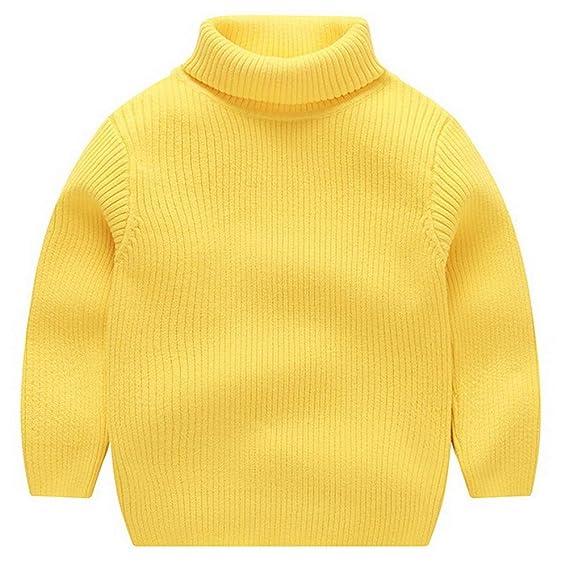 ARA Jersey de Cuello Alto de Punto para Niños Noñas Suéter Grueso de Otoño Invierno 1-7 años: Amazon.es: Ropa y accesorios