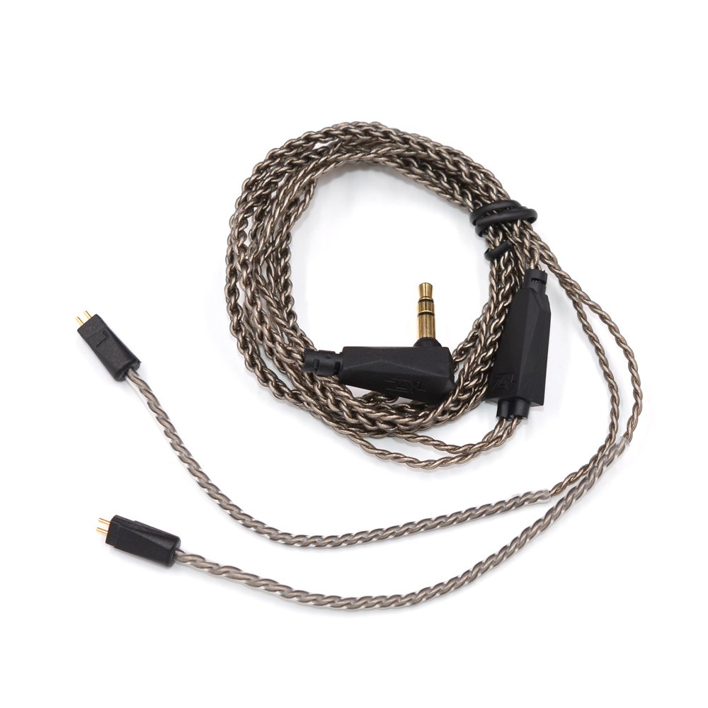 KZ ZS3/ZS4/ZS5/ZS6 1.2M High Purity Oxygen Free Copper Headset Silver Plated Wire 0.75mm Pin Upgrade Braided Replacement Cable for KZ Earphones