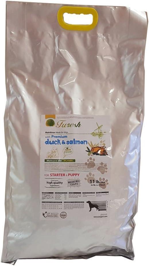 Furesh Dry Dog Food w/Premium Duck & Salmon, 11 lbs- 50 Inner Bags