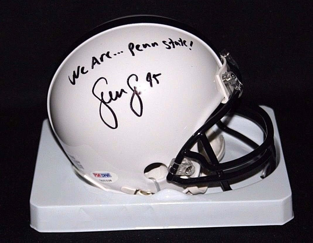 "SEAN LEE Signed ""We Are Penn State"" Penn State Nittany Lions MINI Helmet Autograph PSA / DNA"