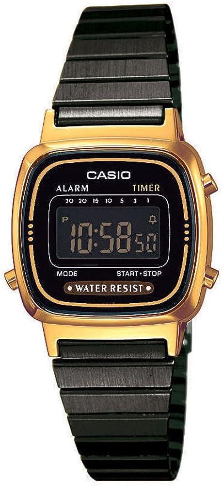 Casio Reloj Digital para Mujer de Cuarzo con Correa en Acero Inoxidable LA670WEGB-1BEF