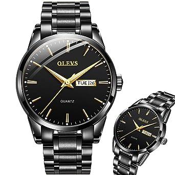 Amazon.com: OLEVS - Reloj de pulsera para hombre con fecha y ...