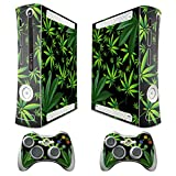 XBOX 360 Console weeds Design Decal Skin – System & Remote Controllers – Weeds – Black For Sale
