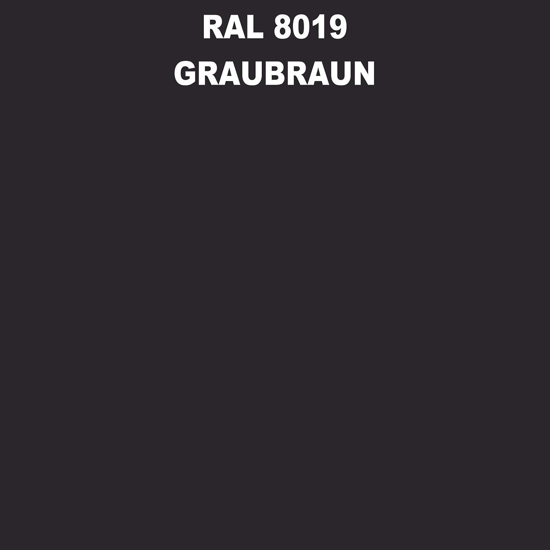 1 Spraydose 400ml Autolack Glänzend Ral 8019 Graubraun Auto