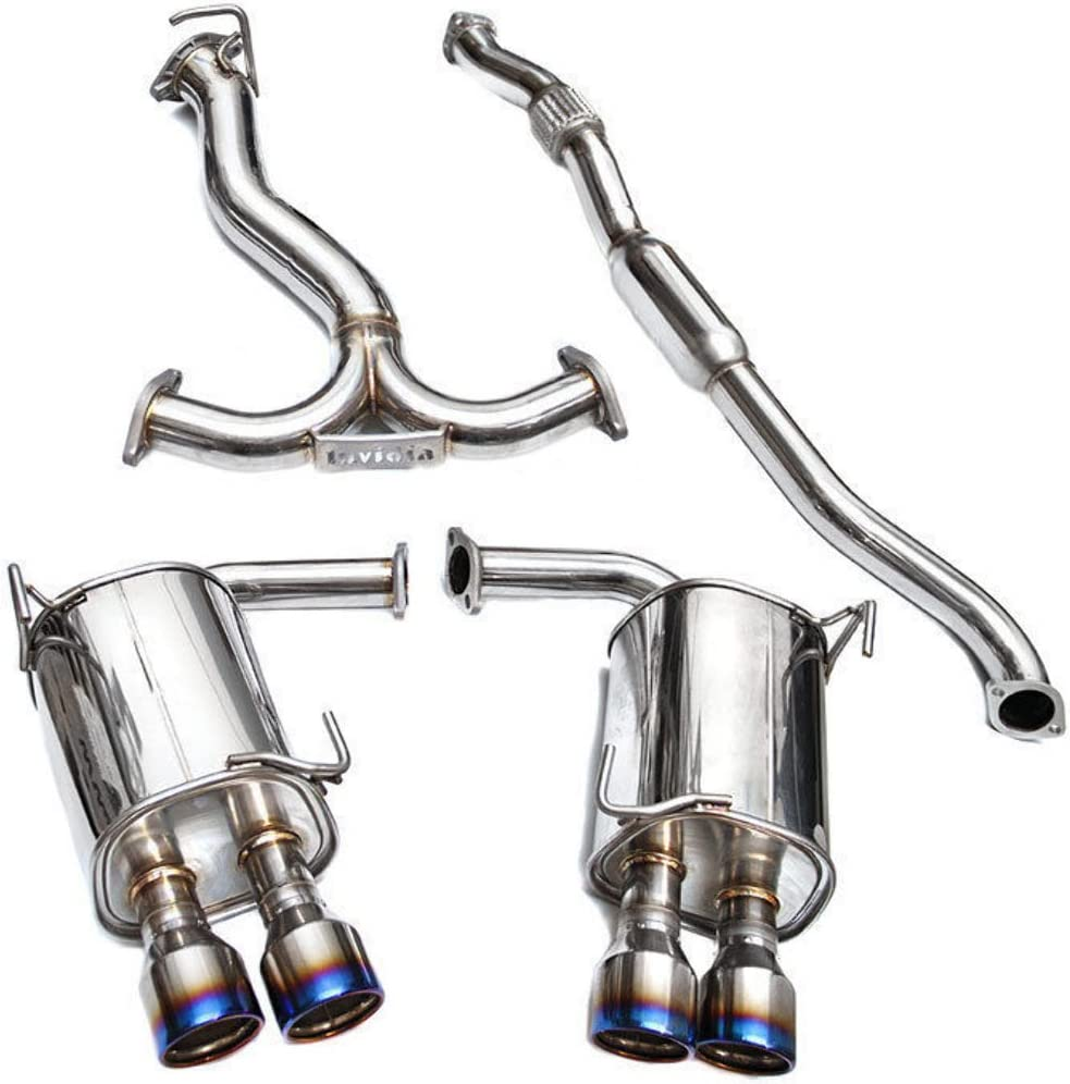 Q300 Rolled Titanium Quad Tip Cat-Back Exhaust System for Subaru WRX//STI Invidia HS15STIG3T