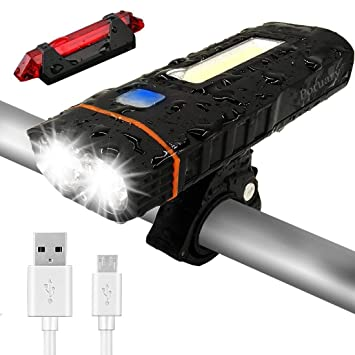 SLZXC - Juego de Luces para Bicicleta (Recargables, USB, 4000 mAh ...