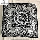 GANESHAM Indian,decorative throw pillow mandala dog bed, mandala boho decor, handmade mandala floor pouf ottoman boho pillow tapestry cat bed tapestry 35x35