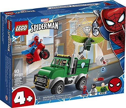 LEGO Marvel Spider-Man Vulture's Trucker Robbery 76147 Playset with Buildable Bank Truck Toy and Superhero Minifigures, New 2020 (93 Pieces)