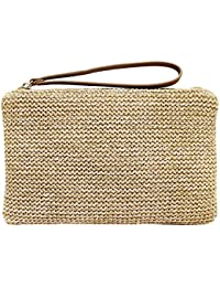 Women's Hand Wrist Type Straw Clutch Summer Beach Sea Handbag