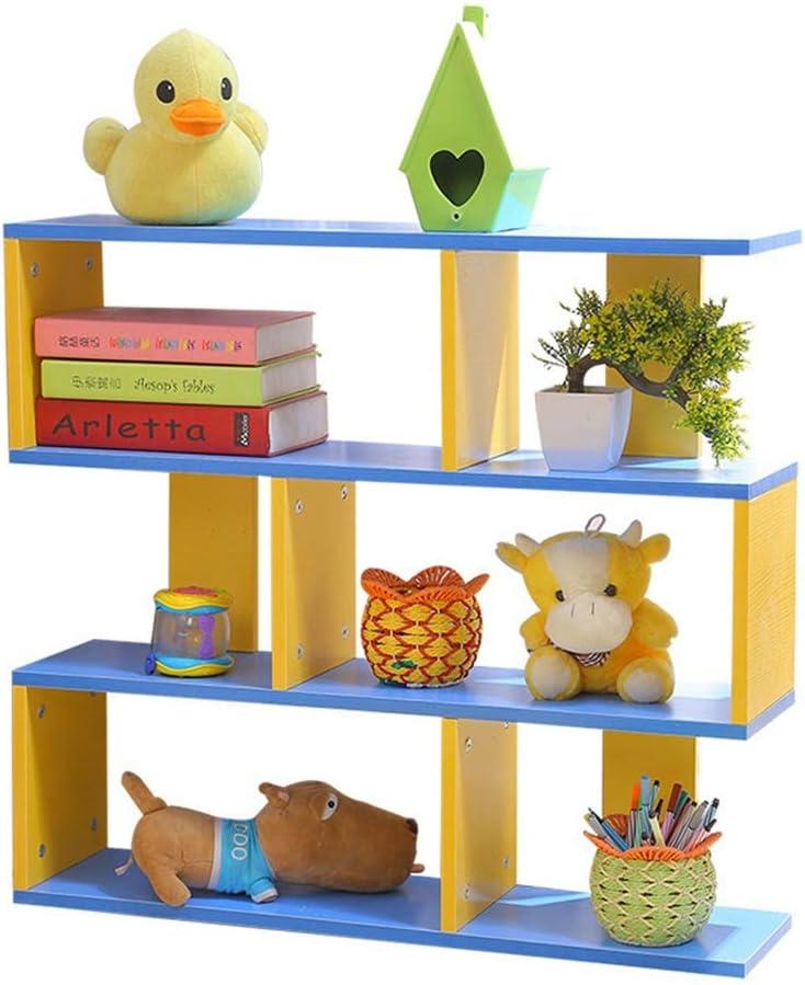 子供用おもちゃ収納ラック 主催キャビネット収納棚本棚とおもちゃのためにキッズ主催棚 おもちゃ箱 ラック (Color : Blue, Size : 73x20x80cm)