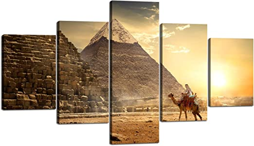 egypt pharaohs pyramid cleopatra art landscape print large photo