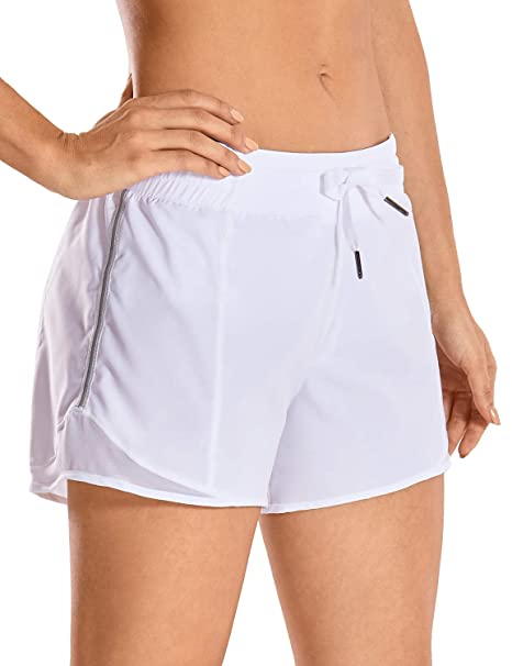 CRZ YOGA Pantalón Corto Deportivo Mujer Secado Rapido con Bolsillo para Correr -10cm