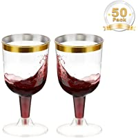 LOMOFI Vasos de Vino de Plástico   50