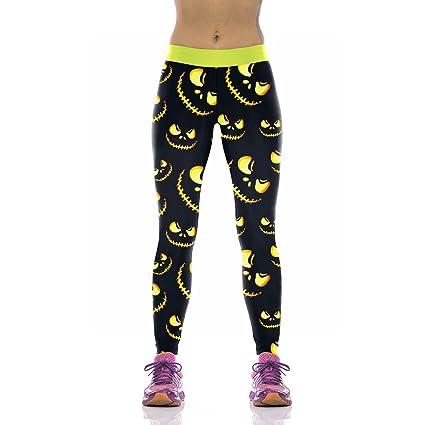 Amazon.com: GROSSARTIG Womens Leggings 3D Printed Halloween ...