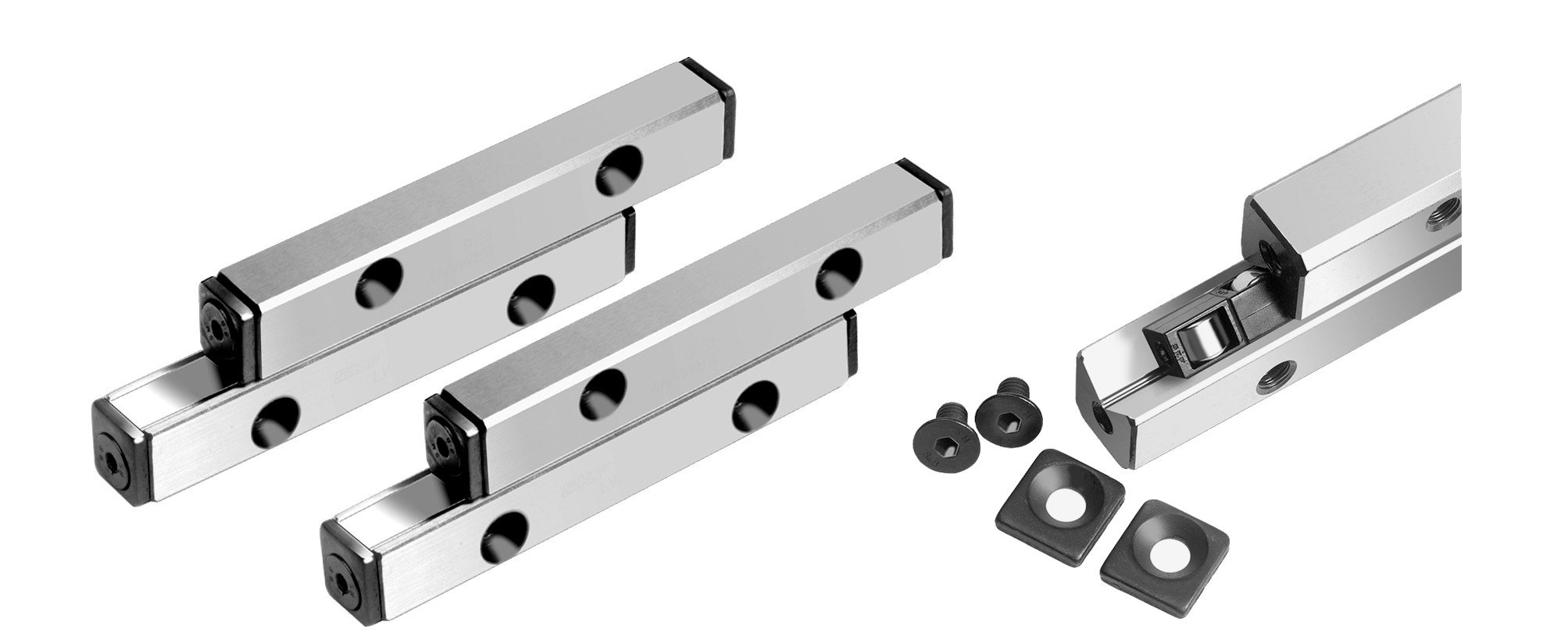 Precision rail guiding RE-ACS size 3 18x8x75mm travel 30mm by Maedler