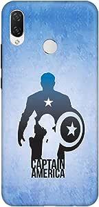 حافظة أنيق لهاتف هاواوي نوفا 3i (P Smart+) رفيع سهل التركيب بلمسة نهائية غير لامعة - Steve Roger Vs Captain America