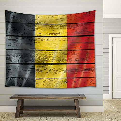 Flag of Germany on a Wooden Background