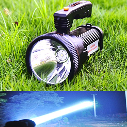 Odear Super Bright Torch Searchlight Handheld Portable LED Spotlight 6000 Lumens USB Rechargeable Multi-function Flashlight Outdoor Long Shots Lamp by Odear