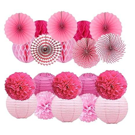 20 pompones de papel de seda para decoración de bodas ...