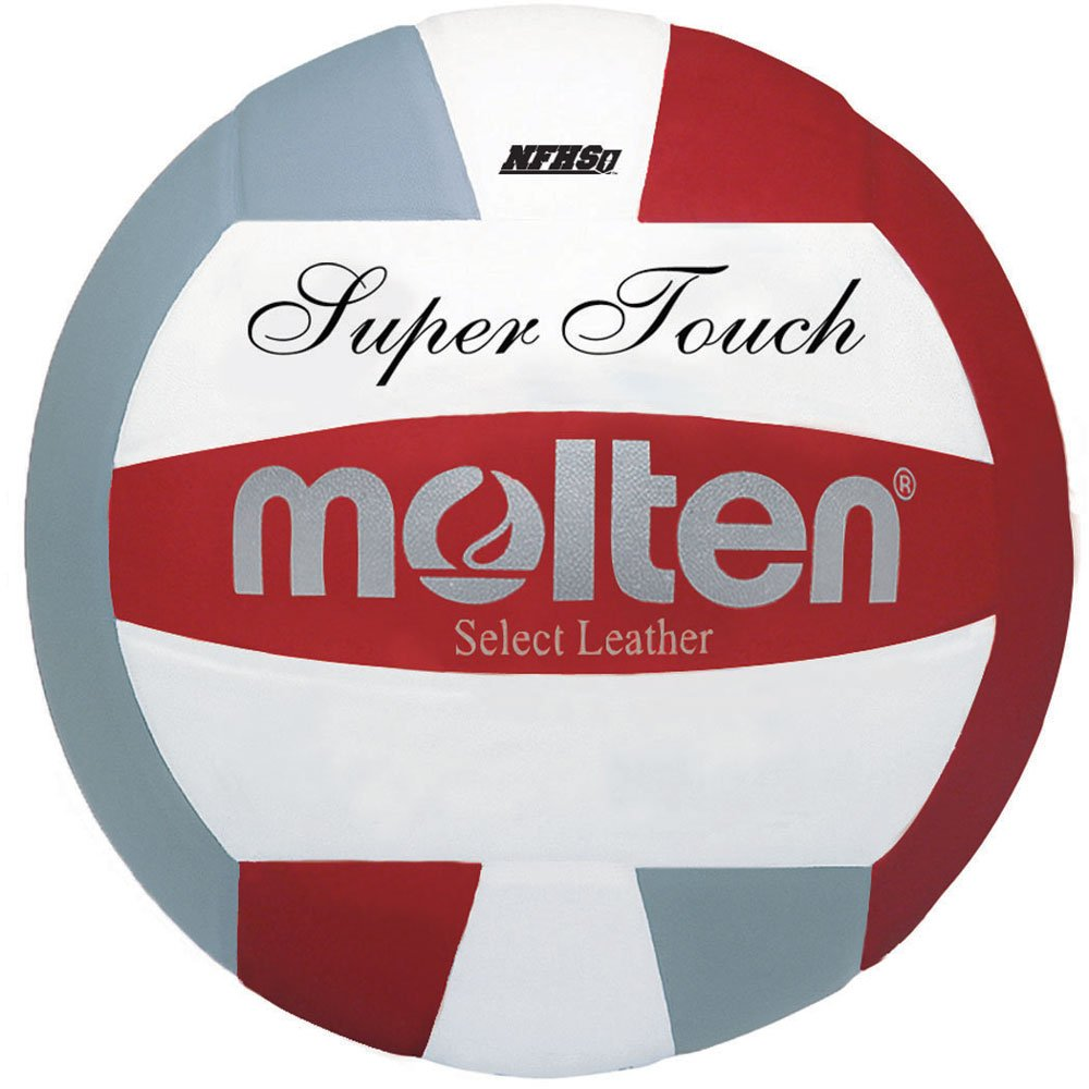Moltenスーパータッチバレーボール B0078VYMCQ Red, Silver, White