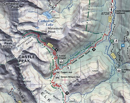 Aspen Crested Butte Maroon Bells Trail Map 4th Edition