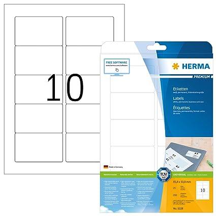Herma 5028 Universal Etiketten Din A4 83 8 X 50 8 Mm 25