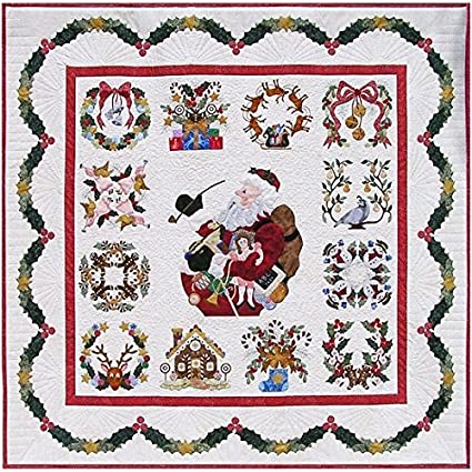 Christmas Quilt Patterns.P3 Designs Baltimore Christmas Bom Block Of Month Patterns