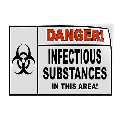 Amazon Com Decal Sticker Danger Infectious Substances Black