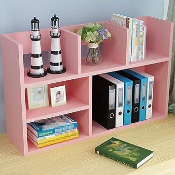 Estantería simple Pequeña estantería sobre la mesa, Librería ...