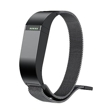 Bandas accesorios compatibles Fitbit Flex pequeño mujeres grandes hombres, milanés bucle magnético de acero inoxidable