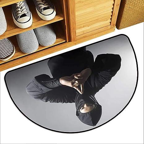 Amazon.com: Artistic Print Entry Door Mat A Real Ninja Shot ...