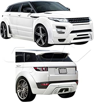 Fits For Land Rover Range Rover Evoque 2012-2015 Rear Trunk Spoiler Trim Carbon