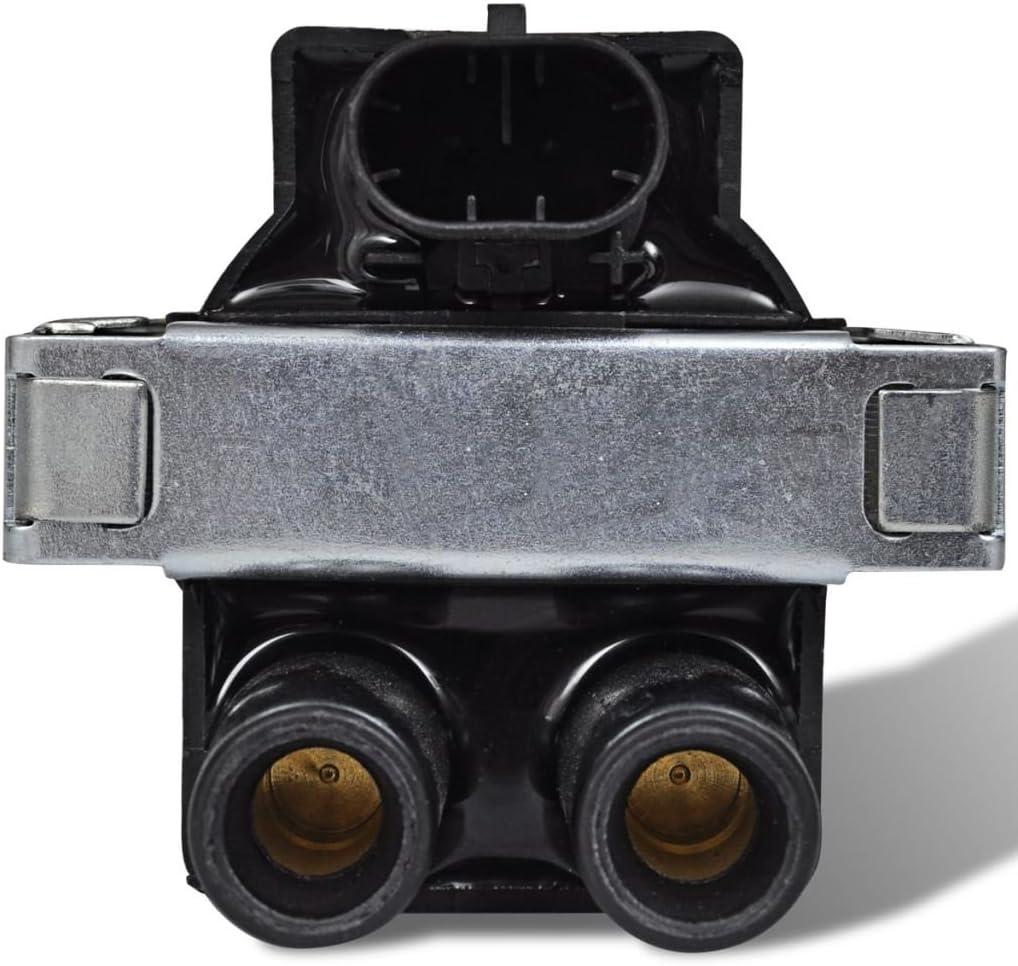 Bobina de encendido (PBT + aluminio + epóxico voltaje 12V para Alfa Romeo Fiat etc negro y amarillo