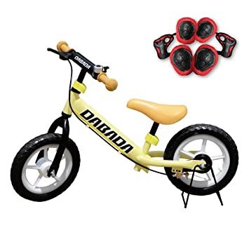 DABADA(ダバダ) ペダルなし自転車 減速ブレーキ付 スタンド付 ノーパンクタイヤ プロテクター付き
