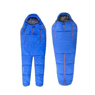 Gaojuan Sac de couchage Humanoid Sac de couchage Outdoor Camping Sac de couchage Ultralight Warm 4 Saison Coton Sac de couchage Ultra-léger Sac de couchage chaud