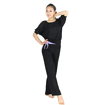 Amazon.com : Fashion Bare-shouldered Design Fitness Yoga ...