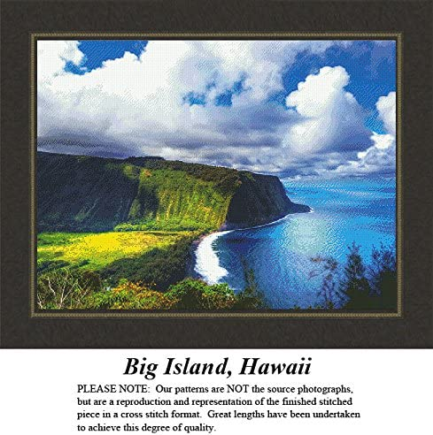 Pattern Only, You Provide The Floss and Fabric Hawaii Big Island Landscapes and Seascapes Counted Cross Stitch Pattern
