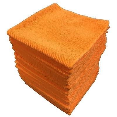 "Shine Doctor Microfiber Towels 16"" x 16"" Orange(Qty. 24) - Ultra Absorbent, Scratch & Lint Free(300 GSM): Automotive"