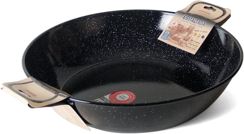 Garcima Sartén Honda con Asas, Acero, Negro, 50 cm