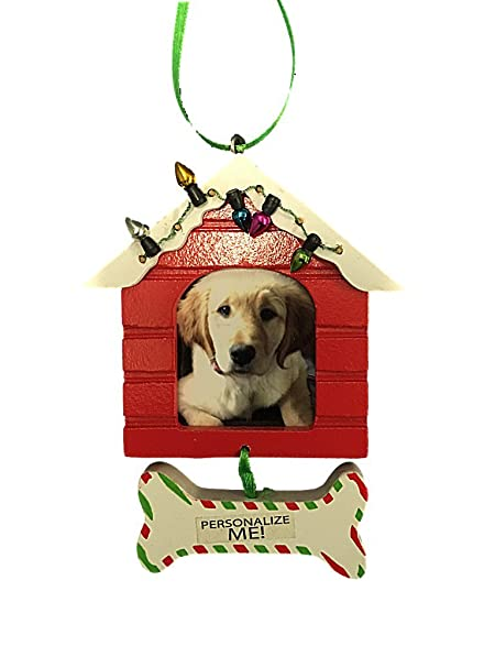 Amazon.com: Wooden Frame Ornament Dog House With Personalizable Bone ...