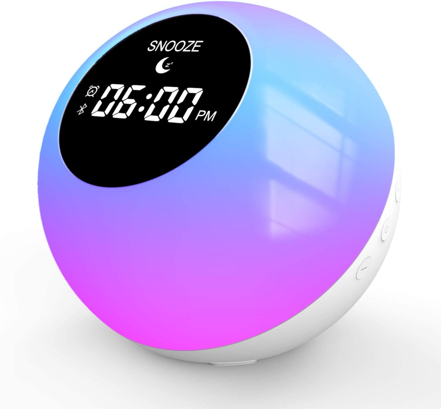 Sunrise Alarm Clock, Wake Up Light for Home|Bluetooth Speakers Alarm Clock for Heavy Sleepers, 7 Colored Atmosphere Lamp|Sleep Aid 6 Nature Sounds for Baby,Travel Bedrooms Office