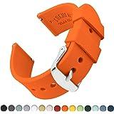 Archer Watch Straps | Ricambio di Cinturino di Silicone per Uomo e Donna, Caucciù Sgancio Rapido per Orologi e Smartwatch | Vari Colori, 16mm, 18mm, 20mm, 22mm, 24mm