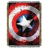 Marvel Captain America,Star Shield Woven Tapestry Throw Blanket, 48'' x 60''